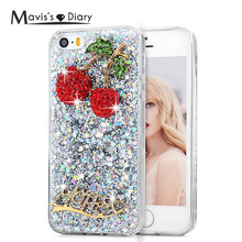 Rhinestone Case for iPhone 5 5s SE Luxury 3D Glitter Bling Crystal Diamond Soft TPU Protective Shell Cover for iPhone 5 iPhone5(China)