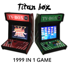 1999 in 1 Titan box 4: 3 Table top arcade machine 12 inch video games console with Game Cabinet 1999 in 1 jamma game board(China)