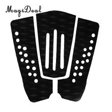 MagiDeal Set of 3Pcs EVA Anti-Slip Surfboard Traction Tail Pads Surfing Surf Deck Grips Outdoor Safety Water Sports Accessory