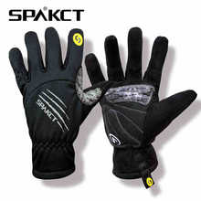 SPAKCT Winter Warm Men Skull SRG Silicone Gel Paded Road MTB BMX Bike Bicycle Cycling Cycle Wear Full Long Finger Gloves,4 Color