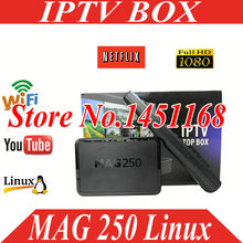 Freesat 2017 hot sale Mag 250 Iptv tv Box Linux Operating System Iptv Set Top Box not include Iptv Account mag 250 iptv box