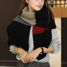 Hot sale Super Long Warm Keeping Scarf Fashion Casual Thickened Cashmere-like Scarf Trendy Amice Overcoat(China)