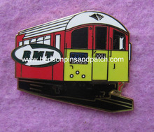 Customized high quality metal imitation hard enamel train badge