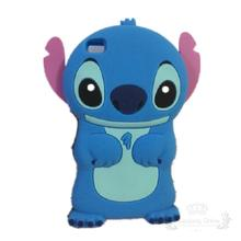 3D Cartoon Model Soft Rubber Skin Silicone Cute Stitch Case Cover for Huawei Ascend P8 with Movable Ear Mobile Phone Case