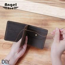 Diy Material For love Man Wallet For Credit Cards Diy Material Package Retro Only Handmade Genuine Leather Wallet Purse Money