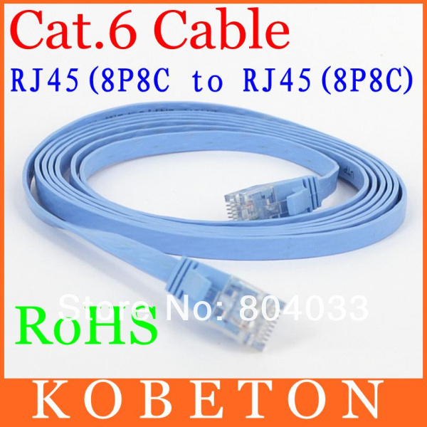 2015 15M CAT6 RJ45 Cable Flat UTP 10/100/1000Mbps Ethernet Network Cable 10G Base 32AWG Bare Copper For Router DSL Modem(China)