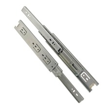 2pcs 12inch Drawer Slides 45mm Width Cold-Rolled Steel Fold Telescopic Drawer Runner Ball Bearing Furniture Cabinet Sliding(China)