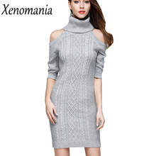 Buy Sweater Dress Vestidos Ukraine Winter Dress Women Shoulder Sexy Dresses Brazil 2017 Robe Vintage Bodycon Vestido De Festa for $21.05 in AliExpress store