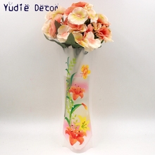 New Contracted rural style bags of environmental protection plastic vases for balcony, sitting room, bedroom, flowers supply