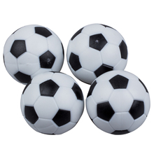 New Fun Plastic 4pcs 32mm Soccer Table Foosball Football Fussball Indoor Black+White Sports Toys Entertainment Party(China)