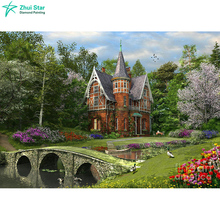 "Full Square Diamond 5D DIY Diamond Painting Photo Custom ""forest and house"" 3D Embroidery Cross Stitch Mosaic Decor"