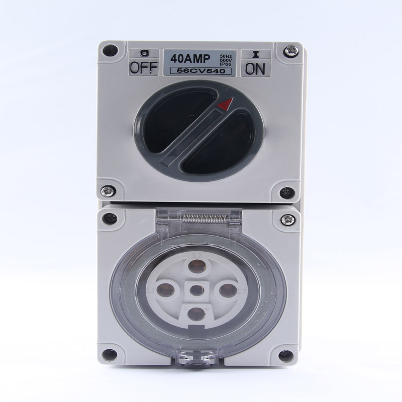 Free Shipping Socket 56CV540 40A Outdoor Yard Wall Power Sockets Receptacle Outlets with Weatherproof Isolated 2 Position Switch<br>