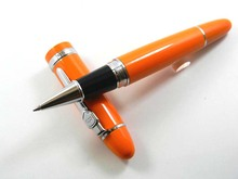 Hot Sale Beautiful Orange Lacquered With Silver Trim 0.5mm Roller ball Pen On Promotion JINHAO 159