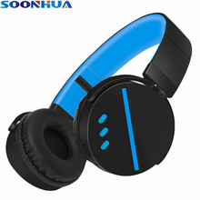 SOONHUA Wireless Bluetooth Headset Super Bass HiFi Headphones Ergonomic 3.5mm Audio Jack With Microphone for iPhone Xiaomi(China)
