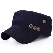 2017 new Classic Service Army Sunscreen Snapback hats Women Men Button Jazz style Military caps Patrol Casquette flat top hats(China)