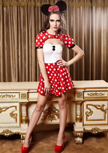 Halloween Minniea Mouse Cosplay Costume sexy minnie mouse costume fantasia minniea adultos Milk Outfit Fancy love live cosplay(China)