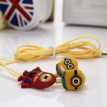 New Stereo Cartoon Earphone Despicable Me Anime The Minion Earphones For IPHONE Samsung XIAOMI MP3