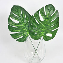 1High Simulation green plant Artificial Tropical Plant Leaf flower Home garden Wedding Party Office Store DIY Decorations - INHONEY Romantic store