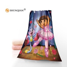 One Piece High Quality dora diego Face Towel/Bath Towel Custom Super Absorbent Microfiber Fabric Towels 35x75cm, 70x140cm(China)
