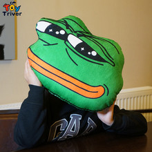 30X40cm Green Sad Frog Hand Warmer Cushion Plush toy Stuffed Doll Birthday Christmas Winter Gift Present Home Shop Deco Triver