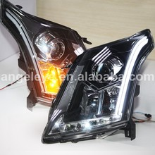 For Cadillac for SRX LED Strip Head Light with Bi Xenon Projector Lens 2010-2013 year with HID kit LF