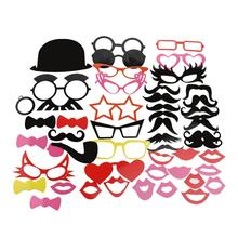 50pcs Wedding Photo Booth Props Party Decorations Supplies Mask Mustache For Fun Favors Photobooth Photocall