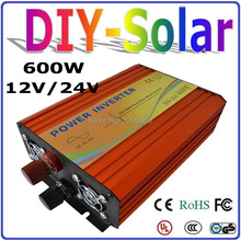 UL & TUV Approved 100% Pure Sine Wave Off Grid Inverter 600W, Micro Solar Wind Power Inverter 600w 12v 24v DC to AC 110v 220v
