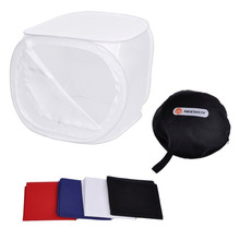 Neewer 24x24 inch/60x60 cm Photo Soft Box Photography Light Tent Cube Softbox for Camera Studio Props with 4 Backdrops(China)