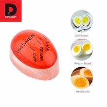 Dehomy 1pcs Egg Timer Perfect Color Changing Timer Yummy Soft Hard Boiled Eggs Cooking Kitchen Eco-Friendly Eggs Timer Red(China)