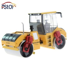 Alloy Diecast Tandem Compactor Road Roller Truck Model 1:35 Miniature Engineering Collection gift toy(China)