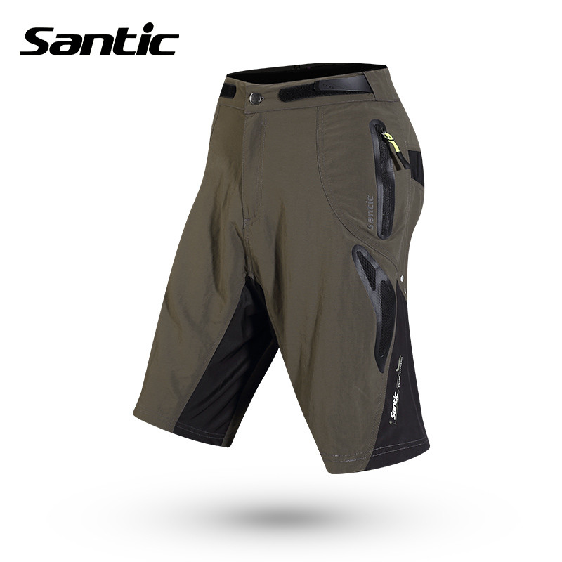 Santic Men Cycling Padded Shorts Loose Short + Seamless Inner Underwear Summer Breathable MTB Shorts Cycling Clothings M5C05059V<br>
