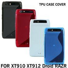 S line TPU Cover soft skin case for Motorola Droid Razr XT910 XT912+screen protector,free shipping