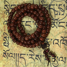 New Arrivals 2015 Red Sandalwood Apple beads Buddhist Prayer Mala Necklace Bracelet Free Shipping