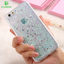 FLOVEME Luxury Bling Case For iPhone 6 6S Plus Glitter Paillette Sequin Phone Cases For iPhone 6S Plus Coque Clear Frame Cover(China)
