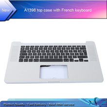 "China wholesale Topcase For Apple MacBook Pro 15"" Retina A1398 Palmrest Top case with French Fr keyboard year 2012"
