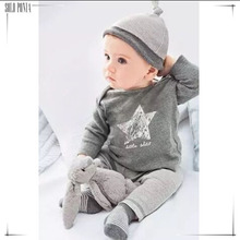 0-2 years old hat shirt pants 3 piece newborn baby dressing set lovely baby boy cloth set vestido infantil ropa de bebe BC3345