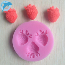 LINSBAYWU Strawberry Silicone Mold Soap,Fondant Candle ,Sugar Craft Tools, Chocolate Moulds,Silicone Molds For Cakes(China)
