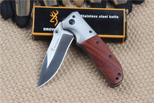 Survival knife folding knife Tactical Damascus color titanium Combat pocket Knives(China)
