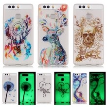 Luminous Case sFor Huawei Ascend P9 Huawei P9 Lite case Huawei P 9 / P9 Lite Soft TPU Silicone Cell Phone Back Cover Fundas Capa