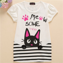 2017 New Quality  Cotton Girl t-shirt Short Sleeve Kids Clothes Brand Summer Tee T-Shirt Baby Girls Clothing