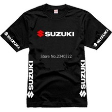 summer Wholesale Men fans Suzuki T-shirt Cotton Motorsport Team Logo  Short Sleeve O-neck T shirt  Size XS-XXXL