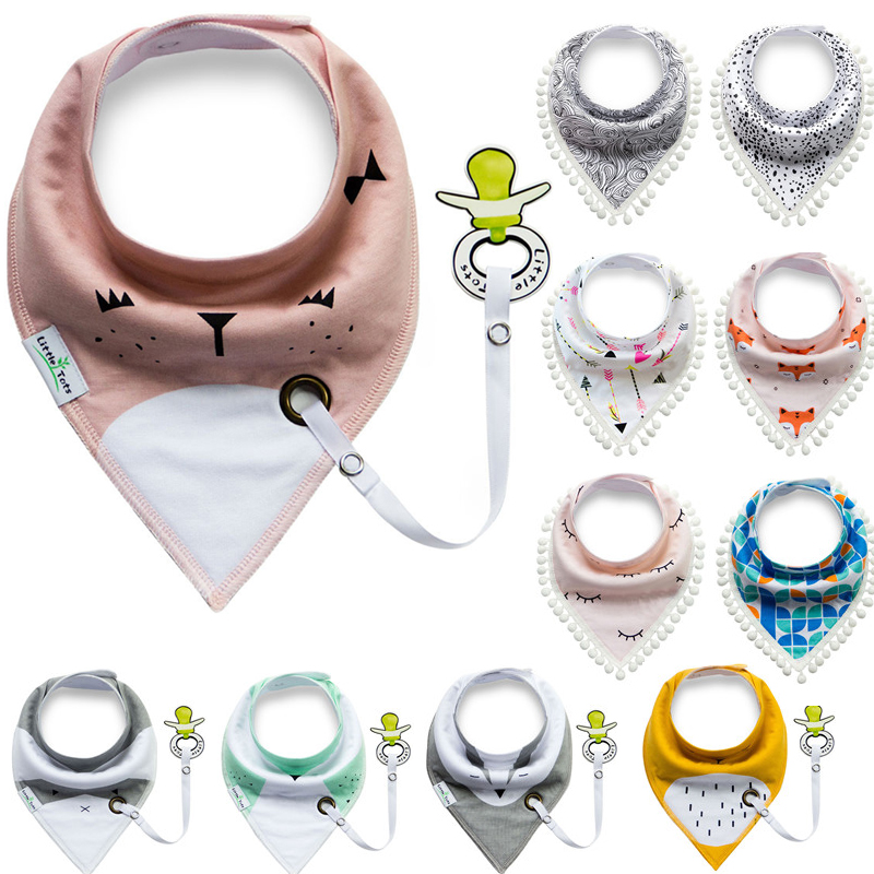 12 Colors Baberos Bebes Baby Bibs Easy to Carry Nipple with Rope Cartoon Infant Cotton Bandana Dribble Bib For Newborn Feeding(China)