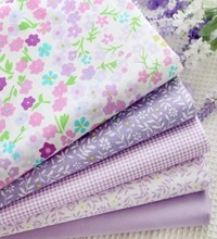 Purple Lavender Cotton Fabric METER Cloth Quilting Patchwork Textile Tilda home textile Clothing Twill Fabric YARD