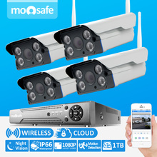 4CH Home  Video Security Surveillance System 1080P HD 1920*1080 H.264 Onvif  Wireless  Camera Kit System With 2TB HDD