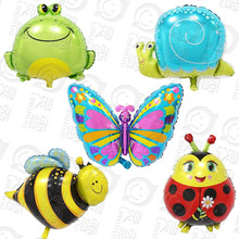 50pcs Large inflatable animal balloons Frog Snails Bee Butterfly foil balloon children birthday party decoration toys for babies