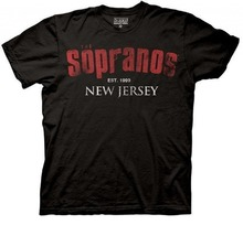 2017 New Fashion Man The Sopranos New Jersey EST 1999 Black brand clothing hip-hop top