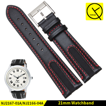 Fashion Calf Genuine Calf Leather Watch Strap fit for Citizen Watch NJ2167-01A/NJ2166-04A Man Watchband 21mm Watchstrap+Tools