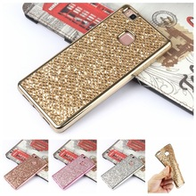 Luxury Glitter Bling Soft Silicone Case For Huawei P8 Lite P10 P9 Lite Y5 II Y6II Compact Honor 5A Plating Frame Full Cover Capa