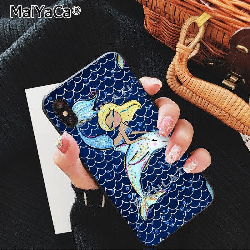 Beautiful mermaid girl fishtail fish scales