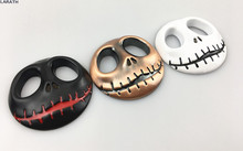 1pc Chrome Metal JACK Skellington Wallpaper Skull Car Styling Decoration Halloween Town Pumpkin King Skull Car Metal Stickers(China)